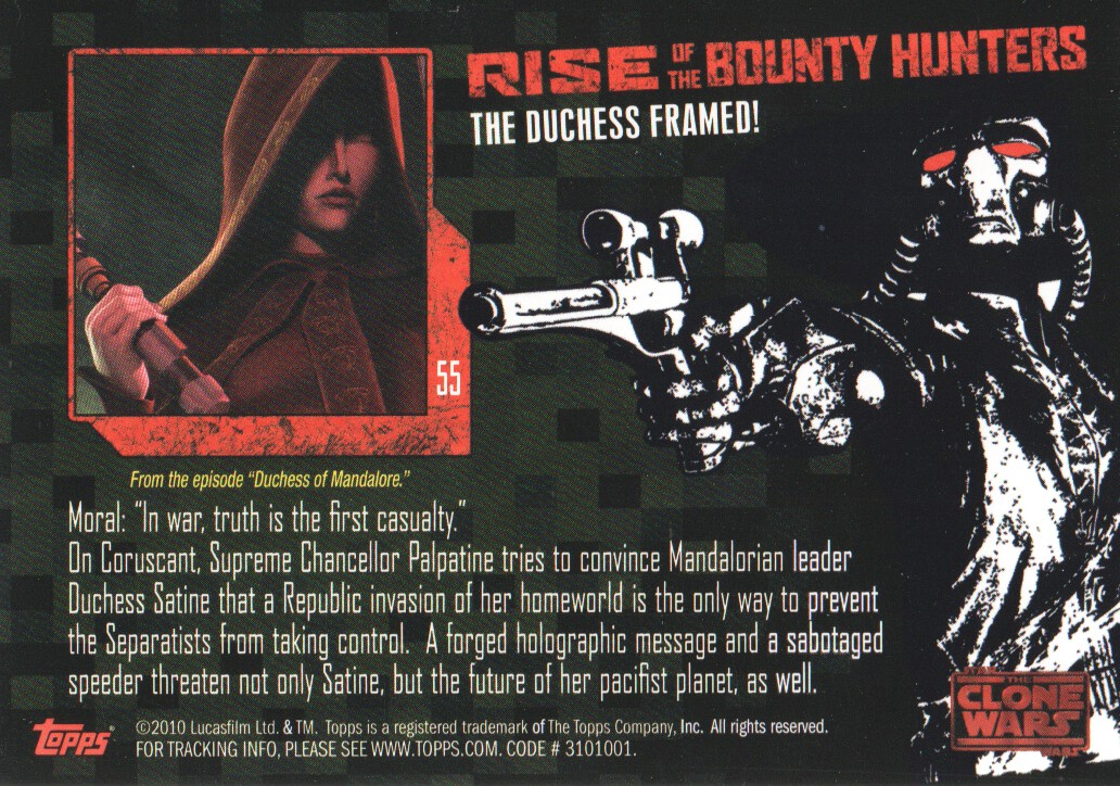 2010-Star-Wars-The-Clone-Wars-Rise-of-the-Bounty-Hunters-Cards-Pick-From-List miniature 111