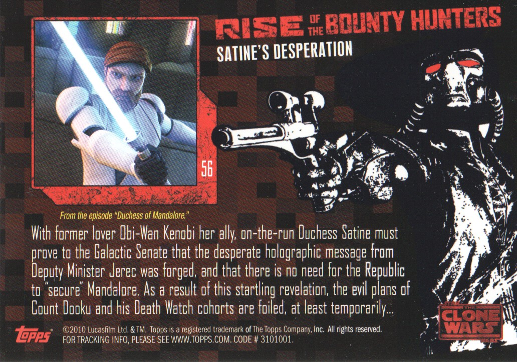 2010-Star-Wars-The-Clone-Wars-Rise-of-the-Bounty-Hunters-Cards-Pick-From-List miniature 113