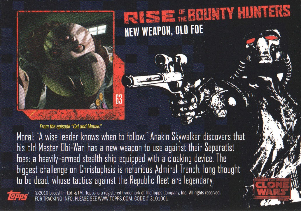 2010-Star-Wars-The-Clone-Wars-Rise-of-the-Bounty-Hunters-Cards-Pick-From-List miniature 125