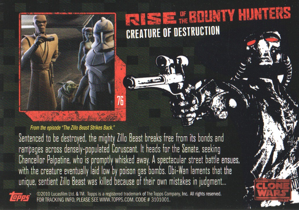 2010-Star-Wars-The-Clone-Wars-Rise-of-the-Bounty-Hunters-Cards-Pick-From-List miniature 151