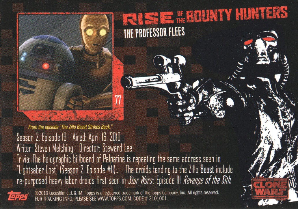 2010-Star-Wars-The-Clone-Wars-Rise-of-the-Bounty-Hunters-Cards-Pick-From-List miniature 153