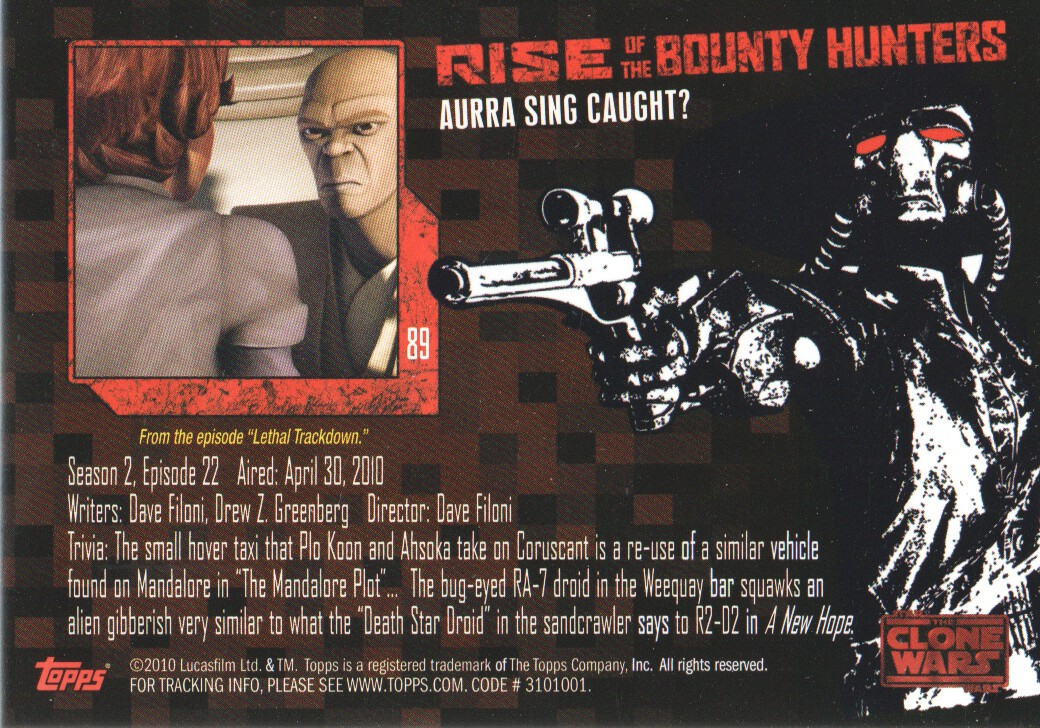 2010-Star-Wars-The-Clone-Wars-Rise-of-the-Bounty-Hunters-Cards-Pick-From-List miniature 177