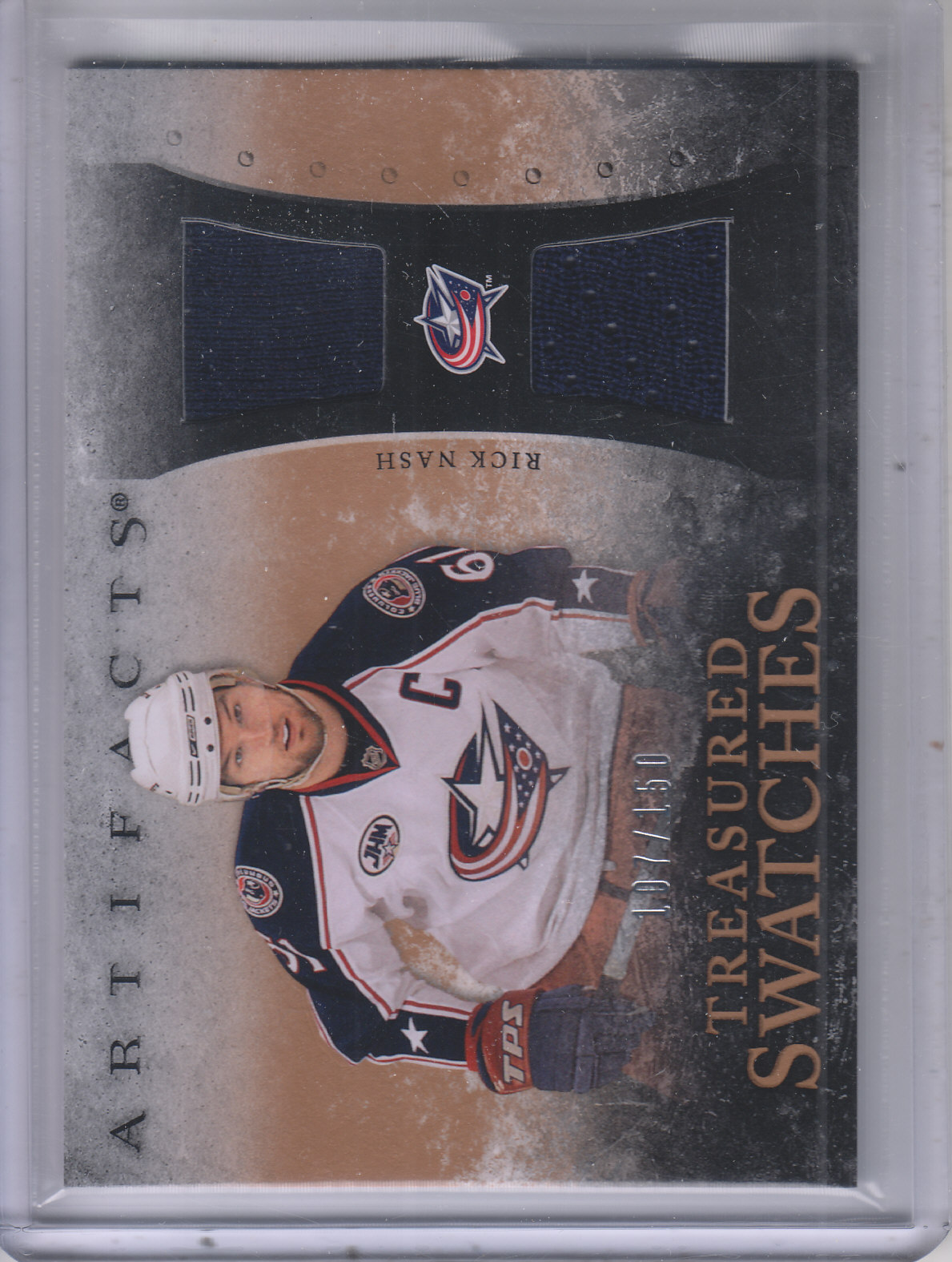 2010-11 Artifacts Treasured Swatches #TSRN Rick Nash