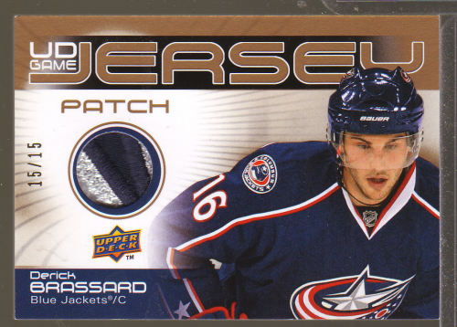 2010-11 Upper Deck Game Jerseys Patches #GJBR Derick Brassard