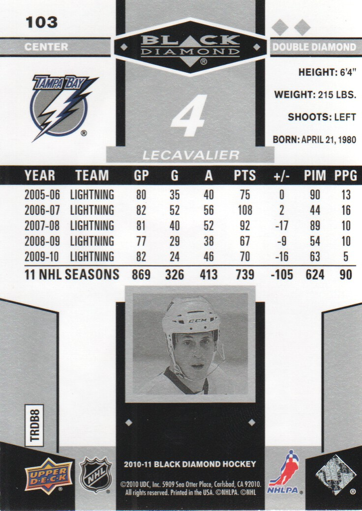 2010-11-Upper-Deck-Black-Diamond-Hockey-Cards-Pick-From-List thumbnail 105