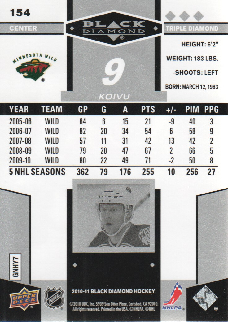 2010-11-Upper-Deck-Black-Diamond-Hockey-Cards-Pick-From-List thumbnail 137