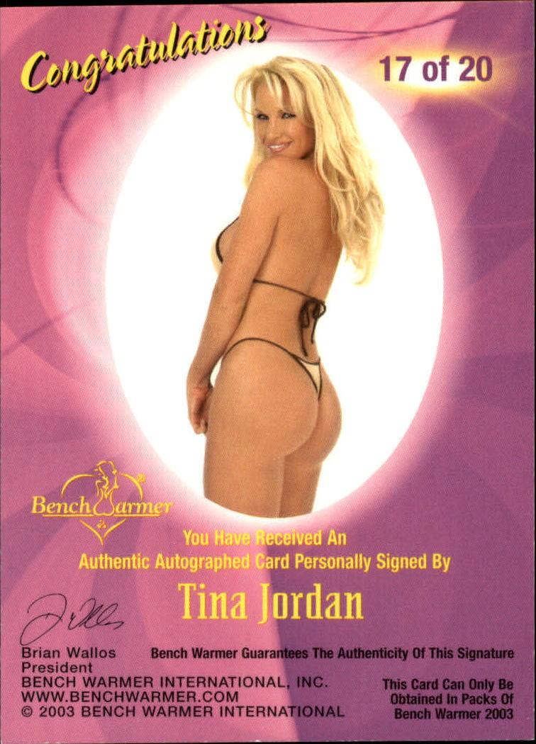 2003 Bench Warmer Series One Autographs #17 Tina Jordan back image