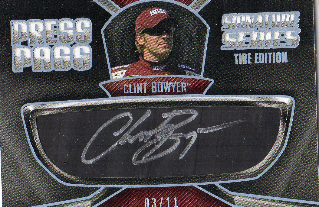 2011 Press Pass Signature Series #SSTCB Clint Bowyer Tire