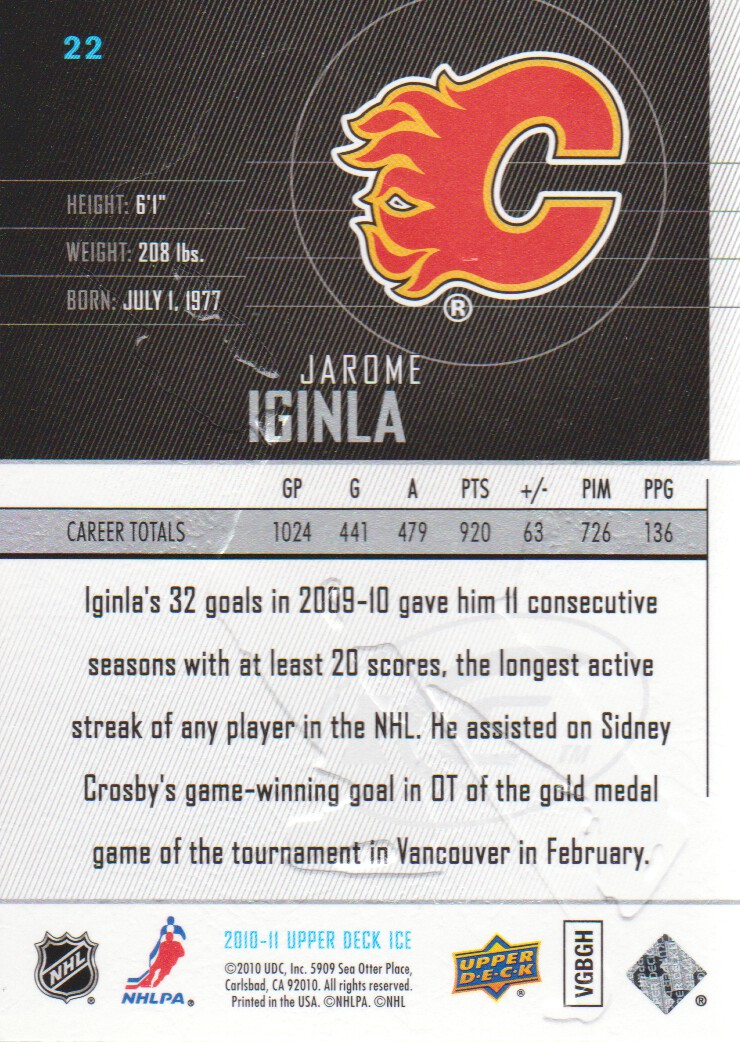 2010-11-Upper-Deck-Ice-Hockey-Cards-Pick-From-List thumbnail 45