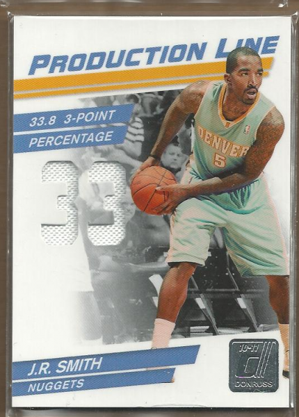 2010-11 Donruss Production Line Stat Die Cuts Materials #100 J.R. Smith/399