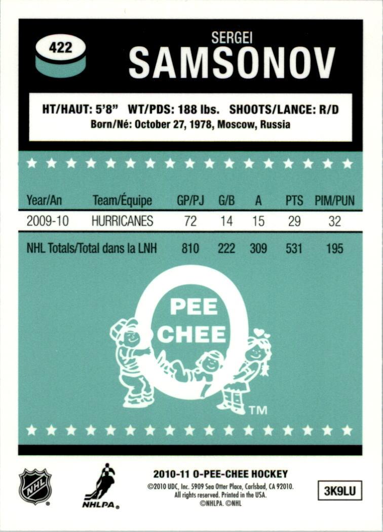 2010-11-O-Pee-Chee-Retro-Rainbow-Hockey-Card-Pick miniature 188