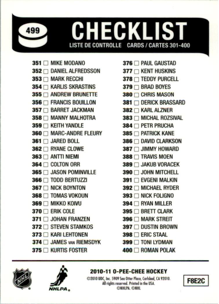 2010-11-O-Pee-Chee-Retro-Rainbow-Hockey-Card-Pick miniature 212