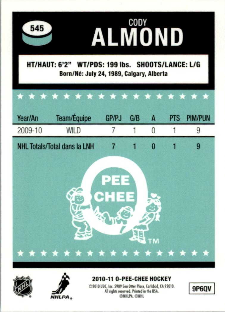 2010-11-O-Pee-Chee-Retro-Rainbow-Hockey-Card-Pick miniature 232