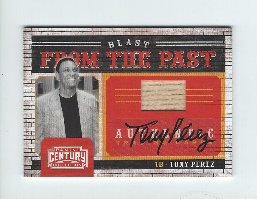 2010 Panini Century Blast from the Past Bats Autographs #13 Tony Perez/10