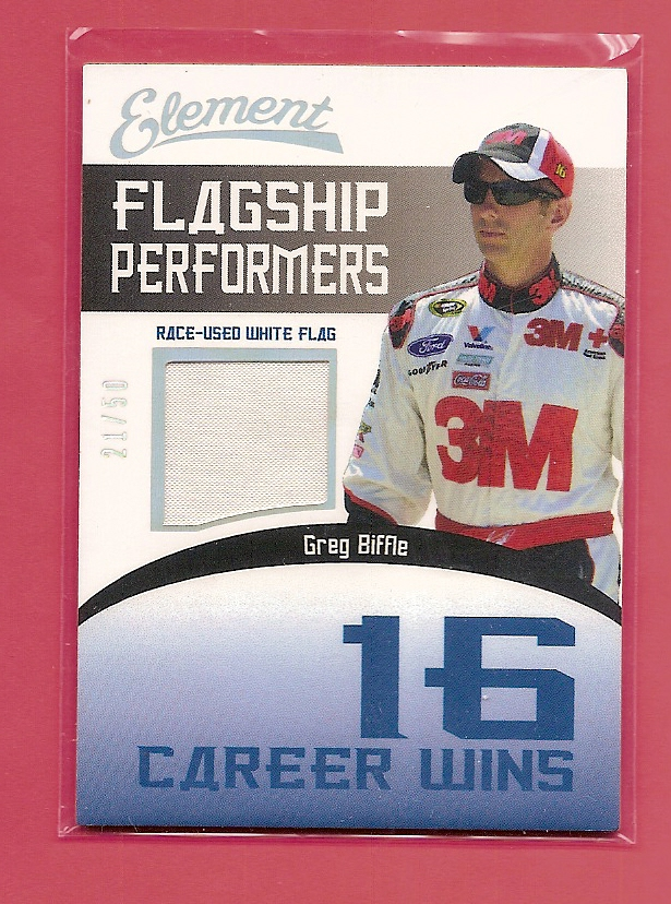 2011 Element Flagship Performers Career Wins White #FPWGB Greg Biffle