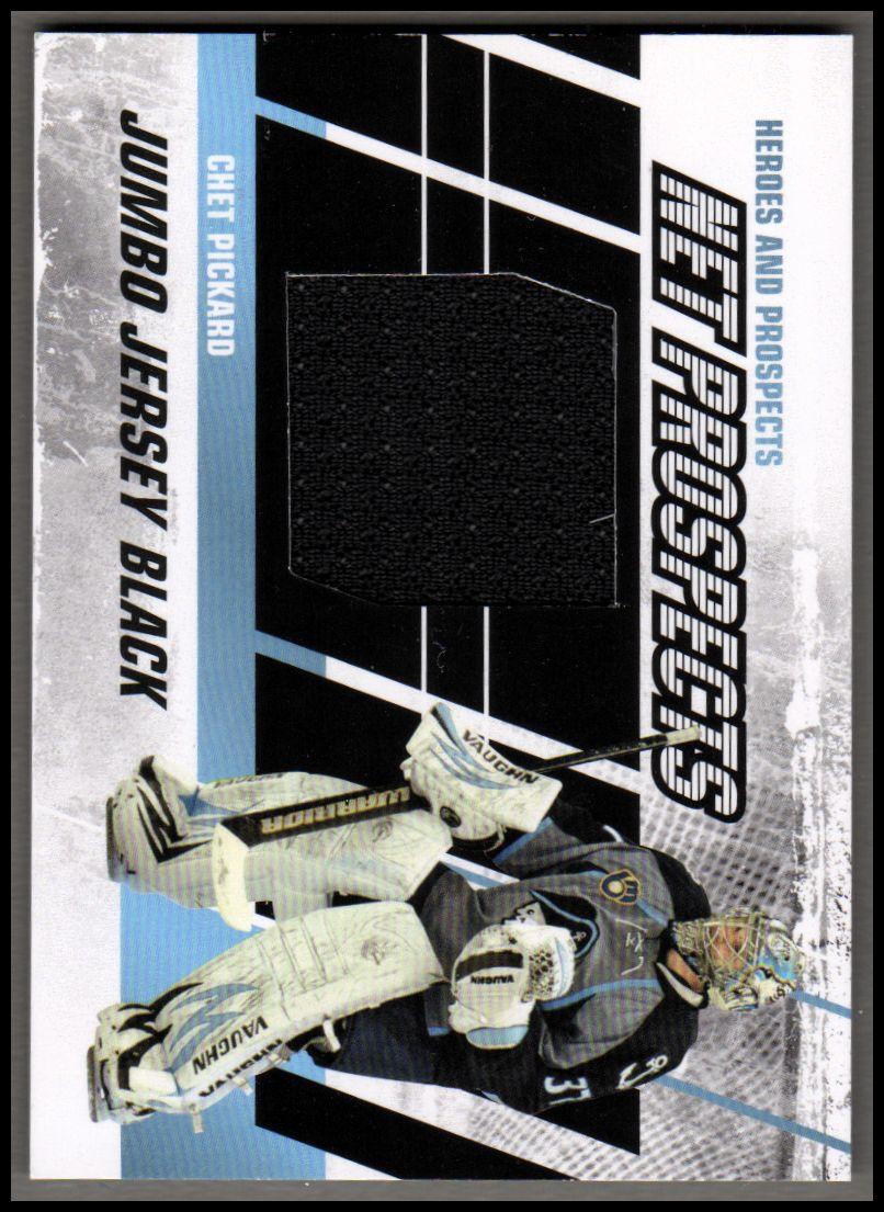 2010-11 ITG Heroes and Prospects Net Prospects Jerseys Black #NPM06 Chet Pickard