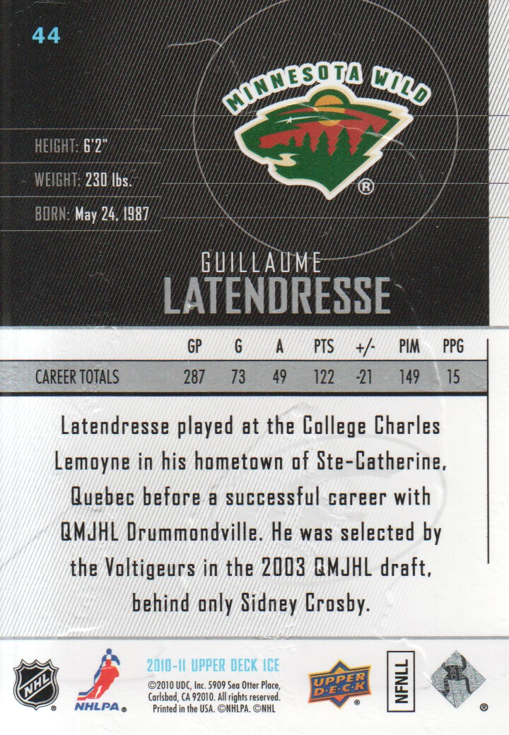 2010-11-Upper-Deck-Ice-Hockey-Cards-Pick-From-List thumbnail 81