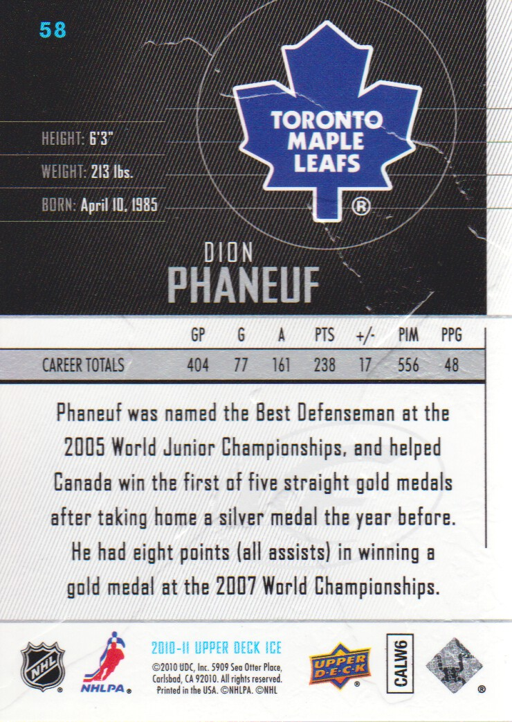 2010-11-Upper-Deck-Ice-Hockey-Cards-Pick-From-List thumbnail 103