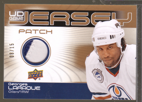 2010-11 Upper Deck Game Jerseys Patches #GJ2GL Georges Laraque