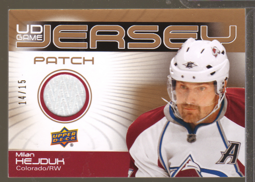 2010-11 Upper Deck Game Jerseys Patches #GJ2HE Milan Hejduk