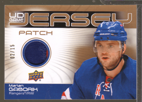 2010-11 Upper Deck Game Jerseys Patches #GJ2MG Marian Gaborik