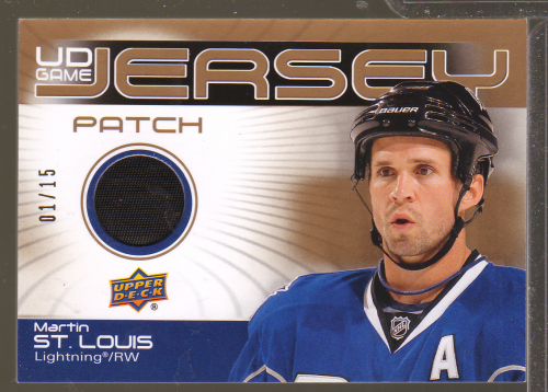 2010-11 Upper Deck Game Jerseys Patches #GJ2MS Martin St. Louis