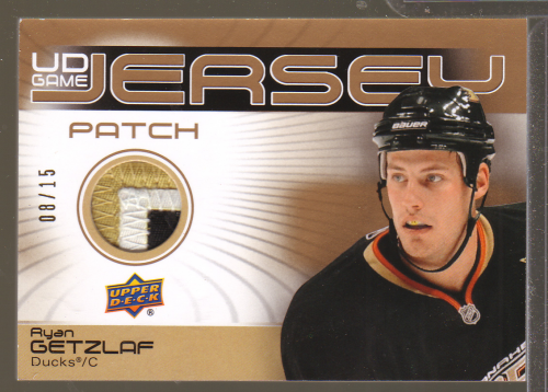 2010-11 Upper Deck Game Jerseys Patches #GJ2RG Ryan Getzlaf