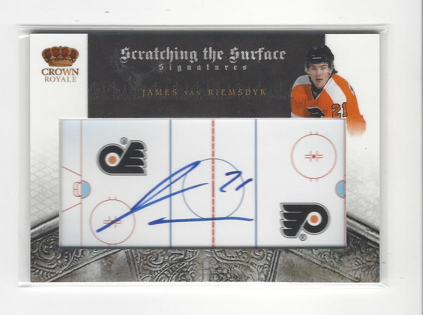 2010-11 Crown Royale Scratching the Surface Signatures #42 James van Riemsdyk