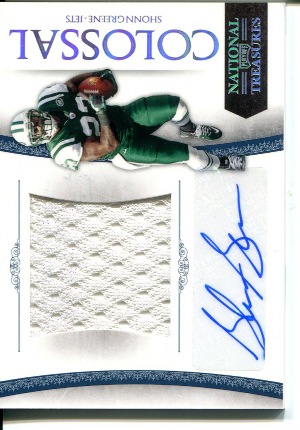 2010 Playoff National Treasures Colossal Materials Signature #54 Shonn Greene/10