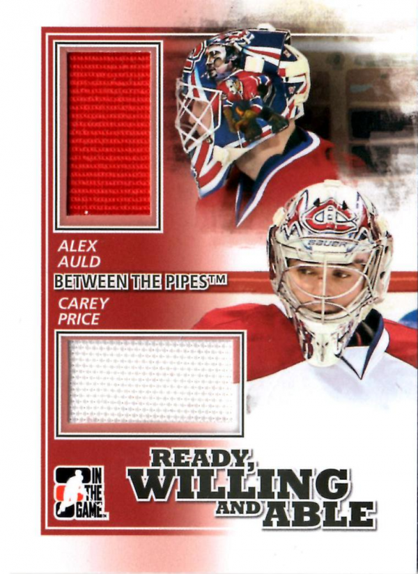 2010-11 Between The Pipes Ready Willing and Able Jerseys Black #RWA01 Carey Price/Alex Auld