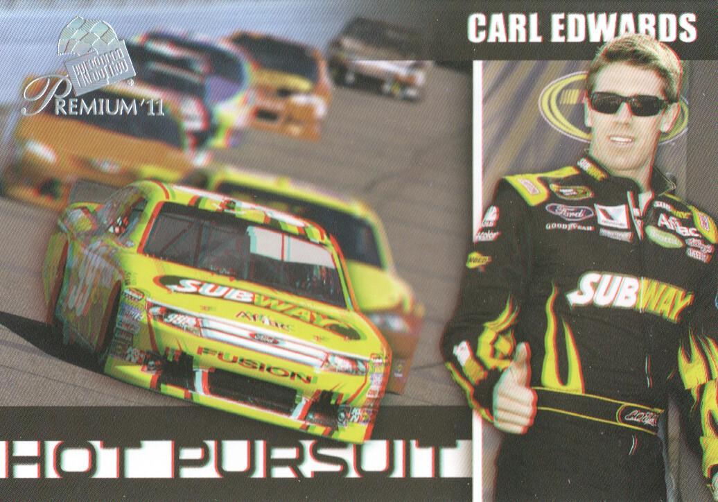 2011 Press Pass Premium Hot Pursuit 3D #HP5 Carl Edwards