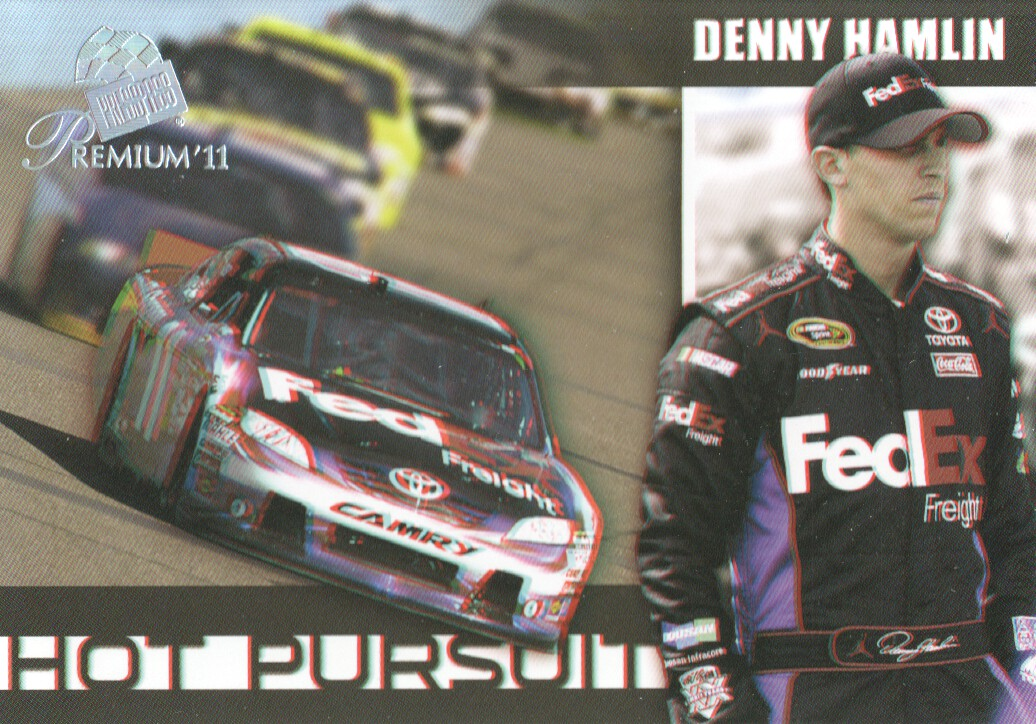 2011 Press Pass Premium Hot Pursuit 3D #HP7 Denny Hamlin