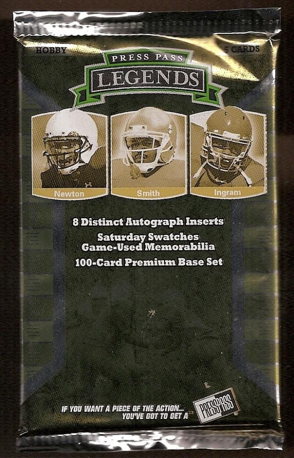 2011 Press Pass Legends Football Hobby Pack