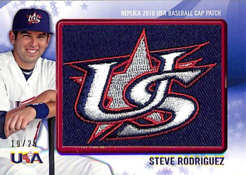 2011 Bowman USA Baseball Logo Patch #USA41 Steve Rodriguez