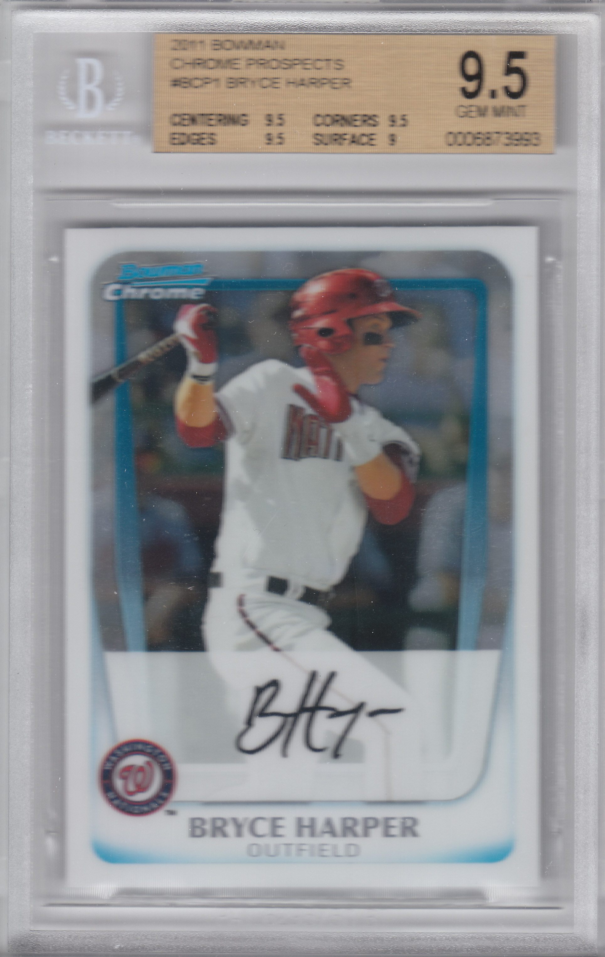 2011 Bowman Chrome Prospects #BCP1 Bryce Harper