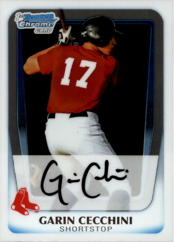 2011 Bowman Chrome Prospects #BCP107 Garin Cecchini