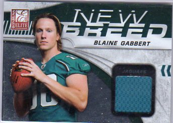 2011 Donruss Elite New Breed Jersey #6 Blaine Gabbert