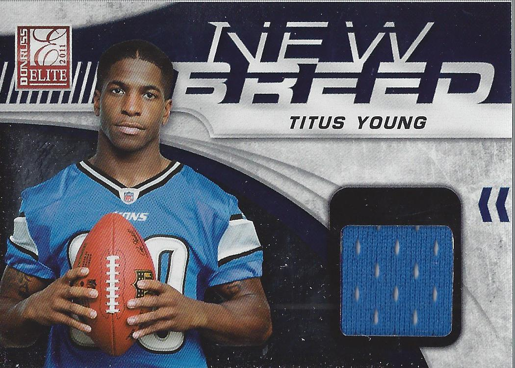 2011 Donruss Elite New Breed Jersey #32 Titus Young