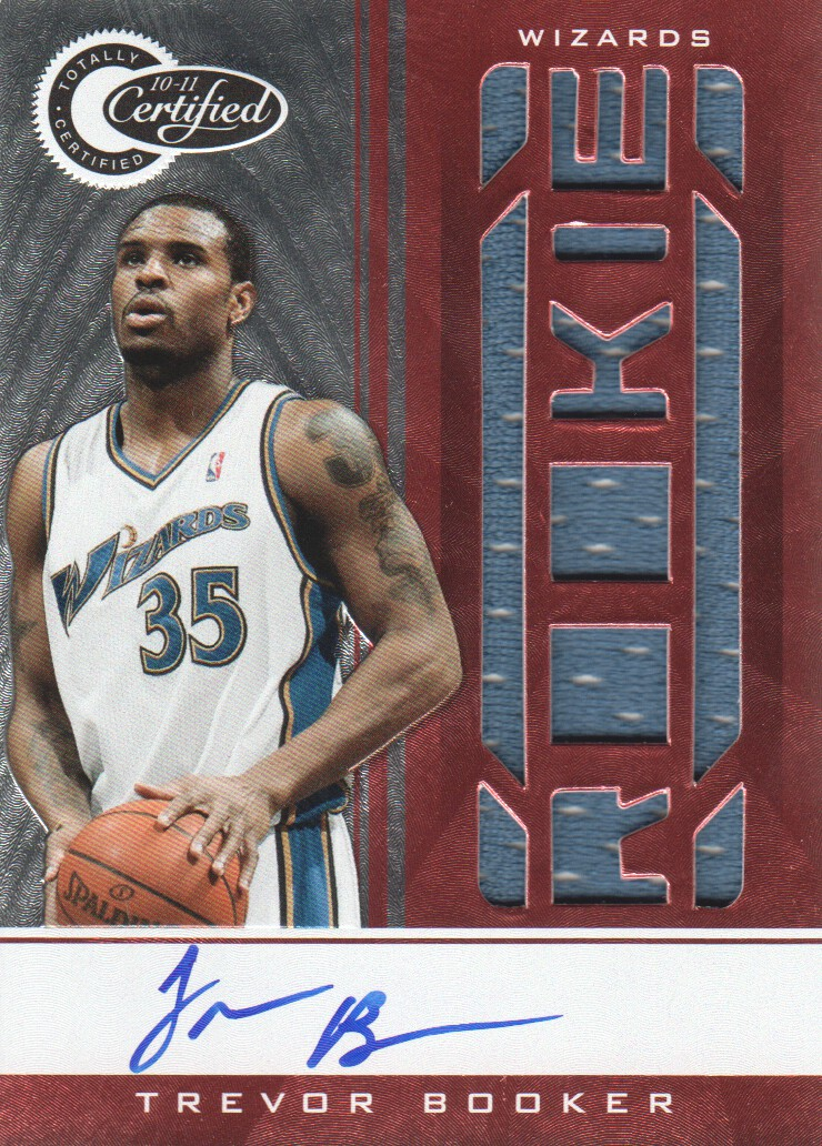 2010-11 Totally Certified Red Autographs #179 Trevor Booker JSY AU/99