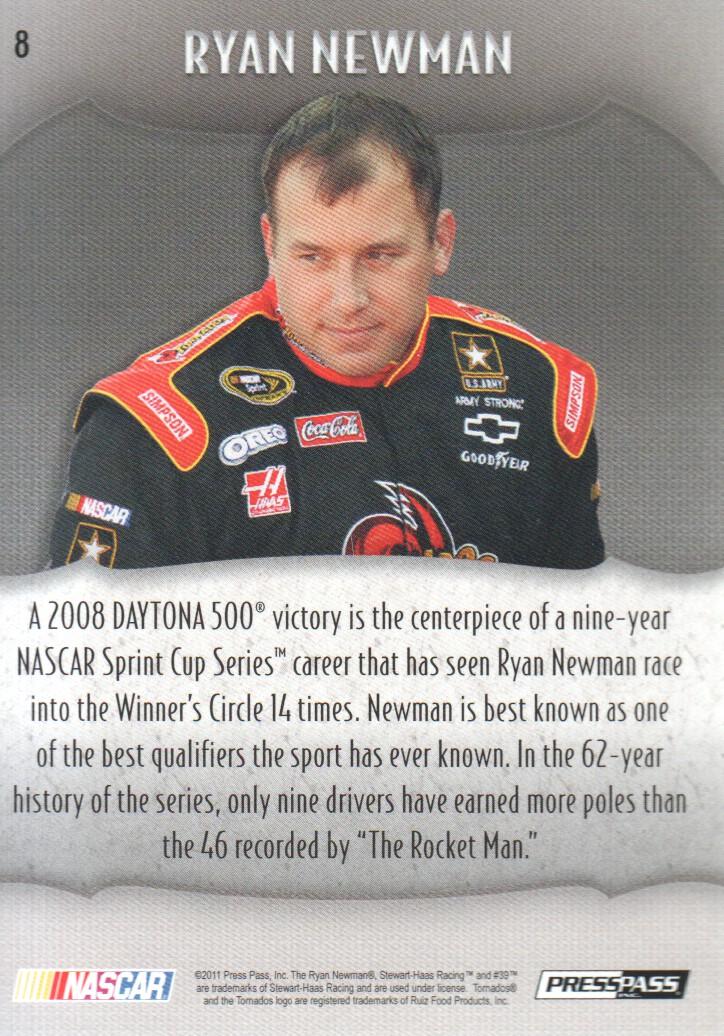 2011 Press Pass Showcase #8 Ryan Newman back image
