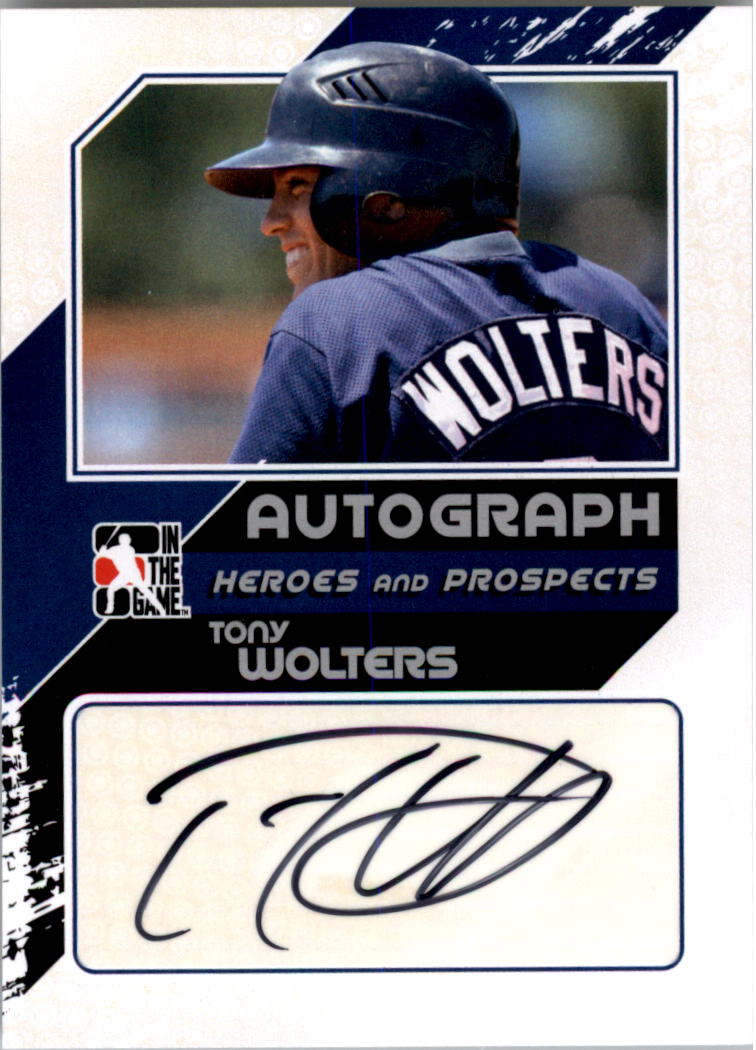 2011 ITG Heroes and Prospects Close Up Autographs Silver #TW2 Tony Wolters S2