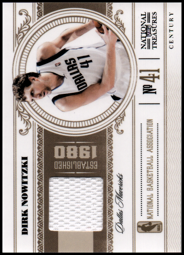 2010-11 Playoff National Treasures Century Materials #18 Dirk Nowitzki/25
