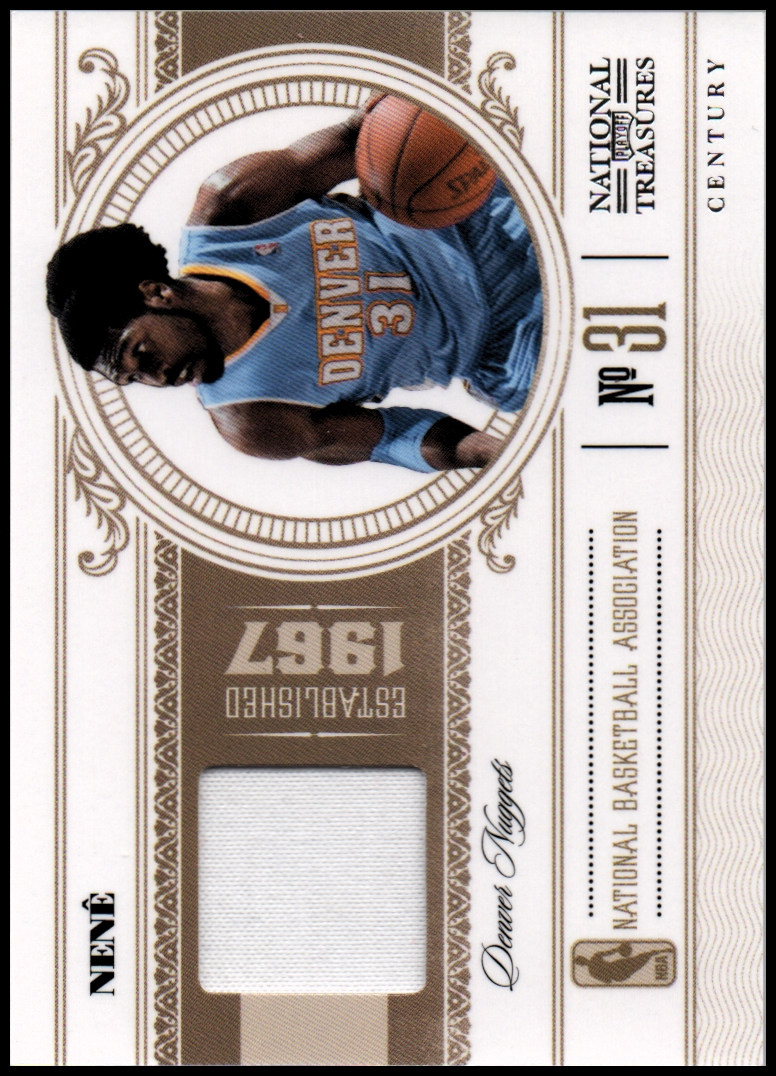 2010-11 Playoff National Treasures Century Materials #23 Nene/25