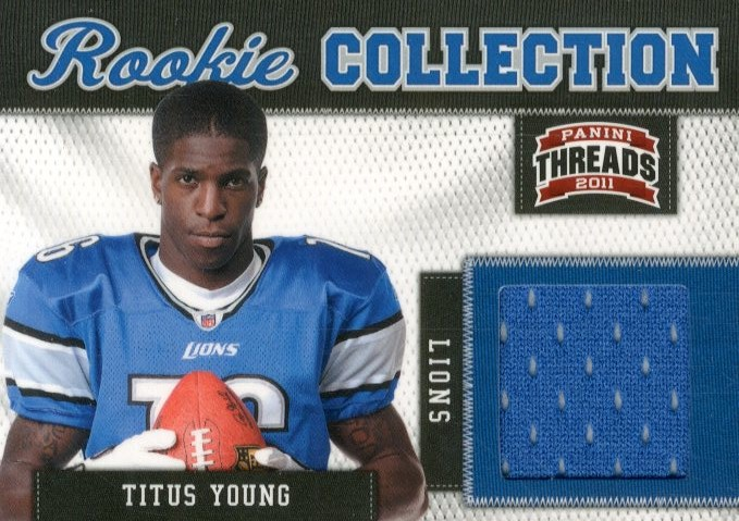 2011 Panini Threads Rookie Collection Materials #32 Titus Young