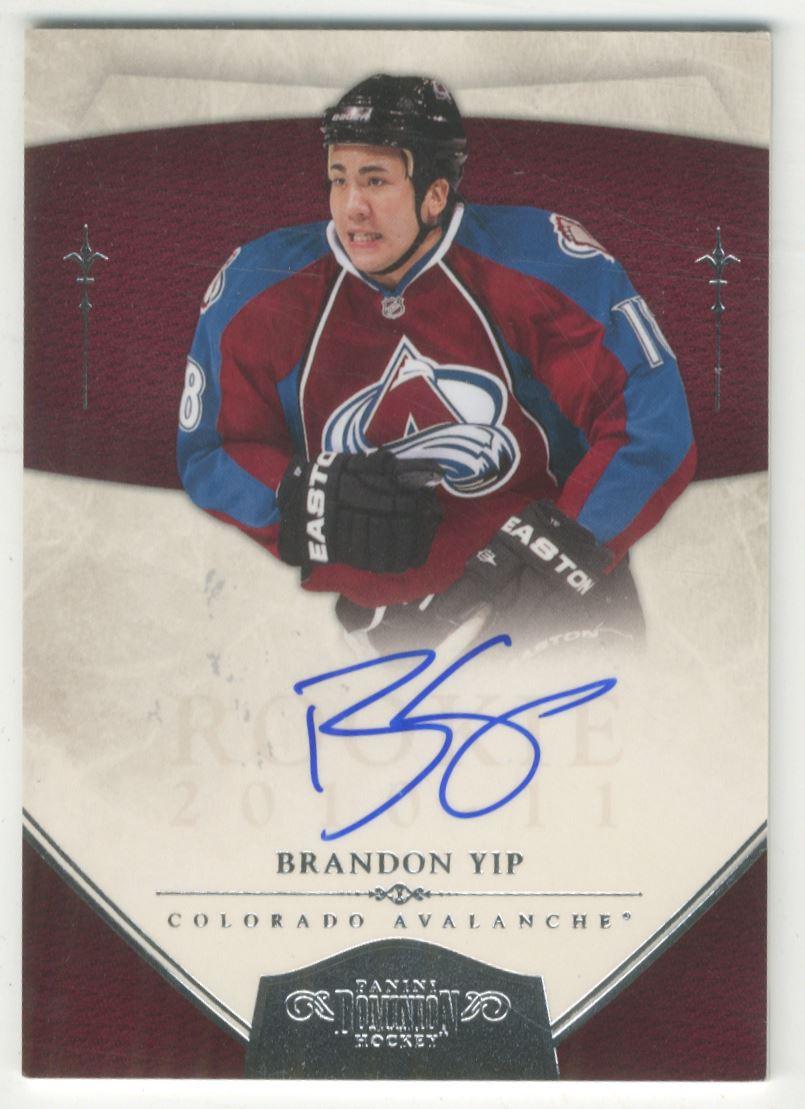 2010-11 Dominion #173 Brandon Yip AU RC