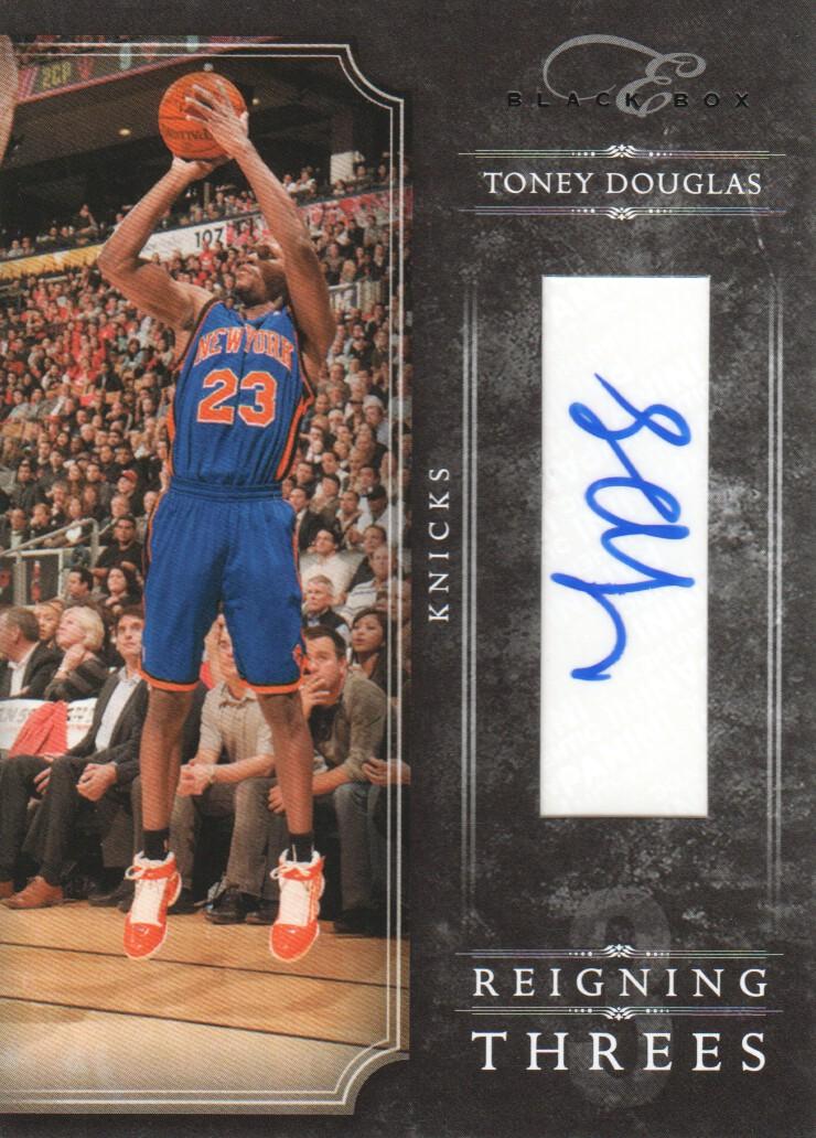 2010-11 Elite Black Box Reigning Threes Signatures #10 Toney Douglas/49