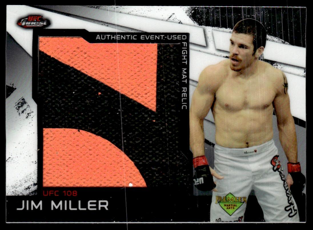 2011 Finest UFC Jumbo Fight Mat Relics #MRJM Jim Miller