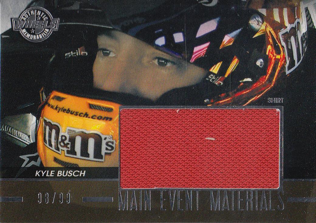 2011 Wheels Main Event Materials Silver #MEMKYB Kyle Busch