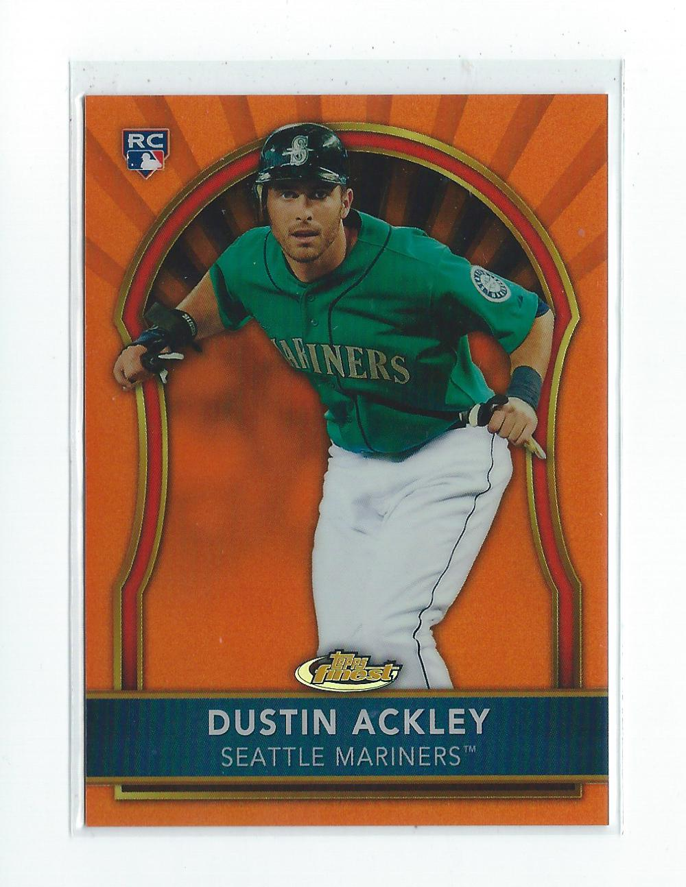 2011 Finest Orange Refractors #76 Dustin Ackley