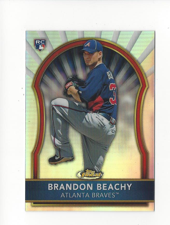 2011 Finest Refractors #77 Brandon Beachy